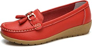 Surprise S New Spring Spring Shoes Woman Cow Leather Flats Women Slip On Women's Loafers Female Moccasins Shoe Large