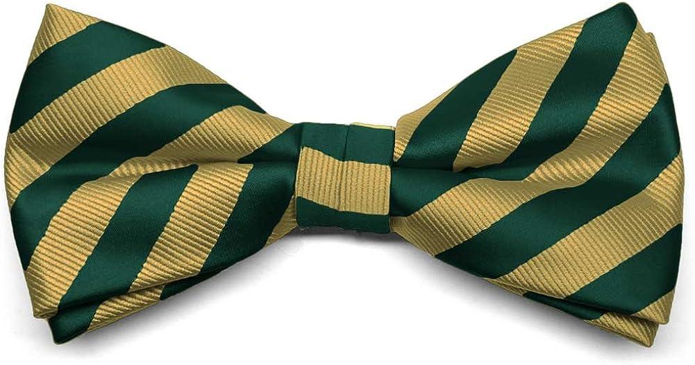 TieMart Pre-Tied Adjustable Formal Striped Bow Tie