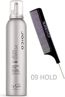 Joico POWER WHIP 09 Hold, WHIPPED FOAM MOUSSE (Stylist Kit) Bio-Advanced Peptide Complex (10.2 oz/ 300 ml)
