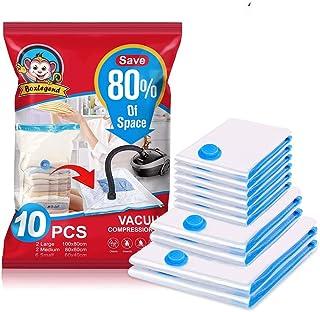 BoxLegend Sacs de Rangement sous Vide 10 Packs 2L 100x80 + 2M 80x60 + 6S 60x40cm,100 Microns Housses de Rangement sous Vid...