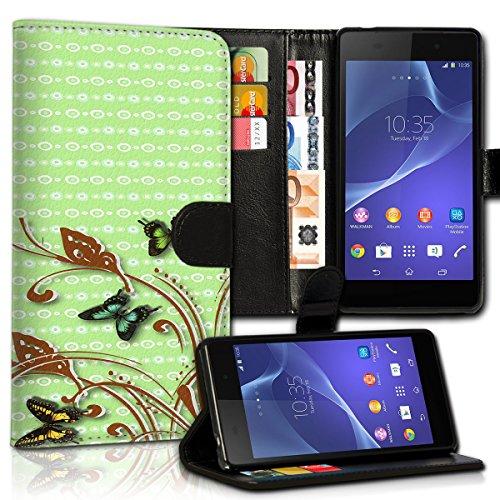 wicostar Book Style LG L Bello Premium PU-Leder Tasche Flip Brieftasche Handy Hülle Kartenfächer mit Standfunktion für LG L Bello - Design Flip MVC25
