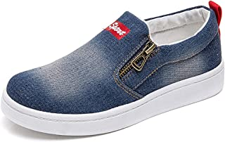 Women Denim Jeans Sneaker Classic Low Top Canvas Casual Shoes Slip-on Loafers