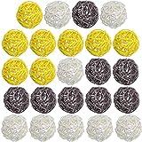 DomeStar Rattan Ball, 24PCS 2 Inch Decorative Balls Orbs Vase Bowl Fillers