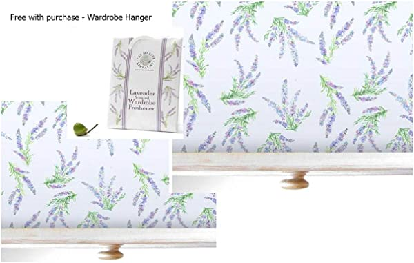 Lavender Scented Drawer Liners 2 Pack With Free Wardrobe