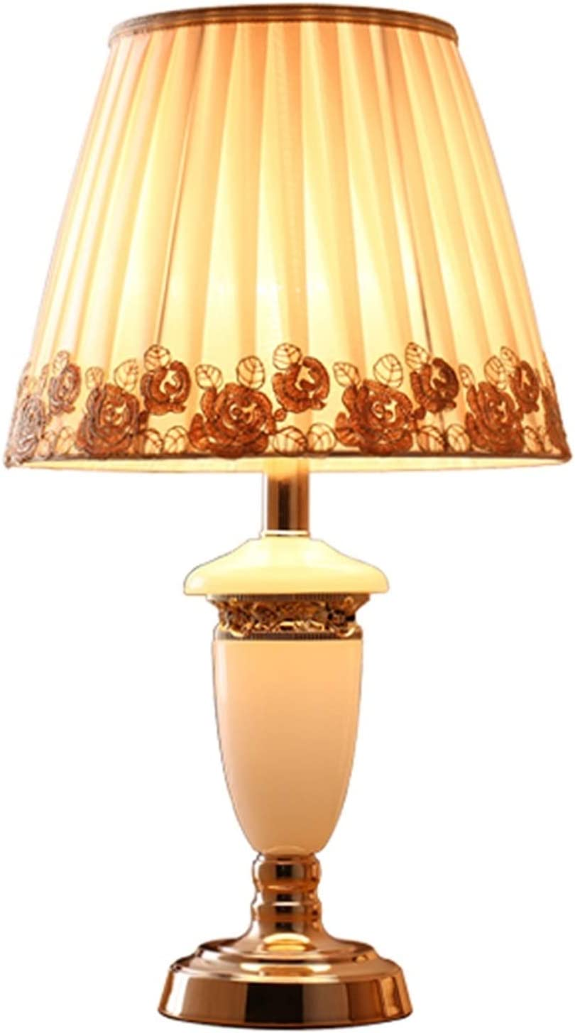 FEIYIYANG We OFFer Los Angeles Mall at cheap prices Table lamp Elegant Marble Bedroom Lamp Handmade