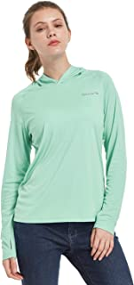 Women's UPF 50+ Sun Protection Hoodies T-Shirt Long Sleeve Hooded Shirt