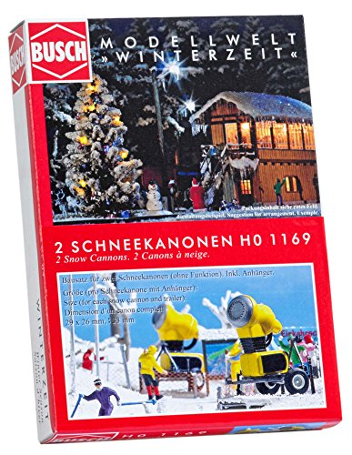 Busch 1169 Snow Canons 2/Ho-Scenery Scale
