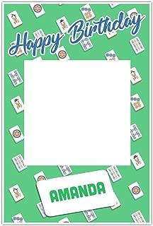 Mahjong Birthday Selfie Frame Poster