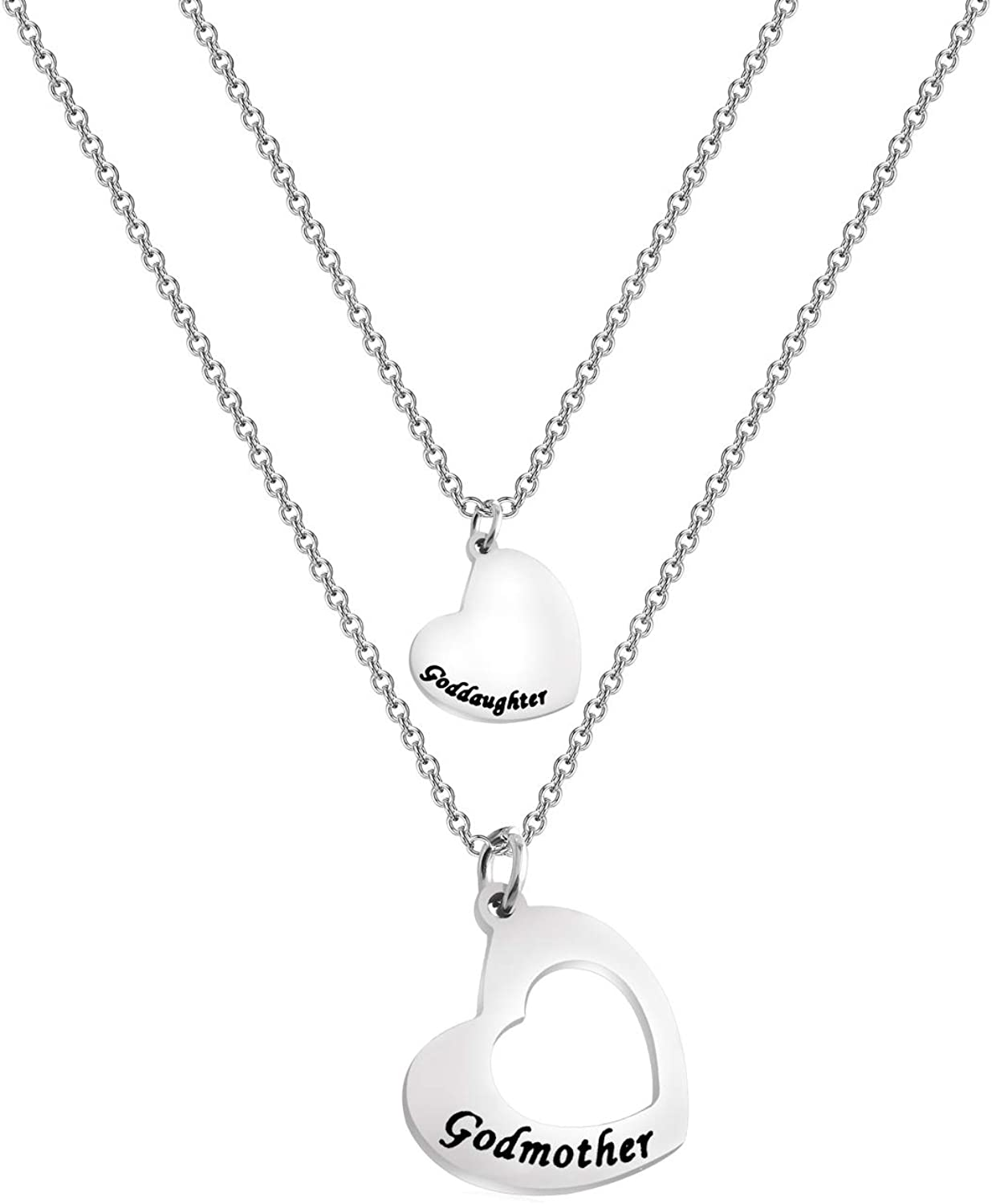 FUSTMW Goddaughter Necklace Godmother In Heart Matching Necklace