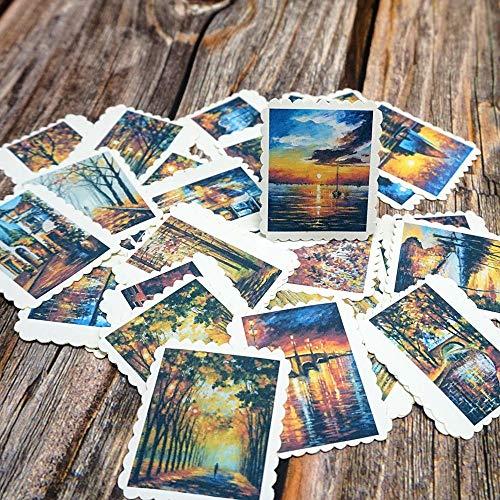 PMSMT 42 unids/Bolsa Pegatinas de Paisaje DIY álbum Diario Scrapbooking Etiqueta Pegatinas mar árbol Regalo Pegatinas