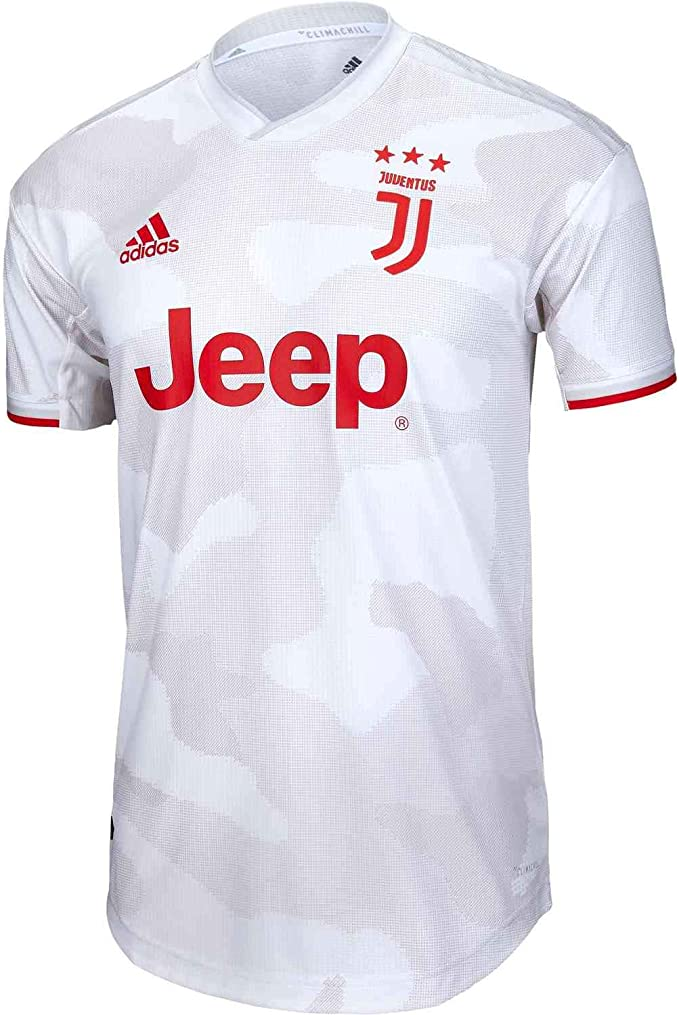 adidas 2019-20 Juventus Authentic Away Jersey - Grey-Red