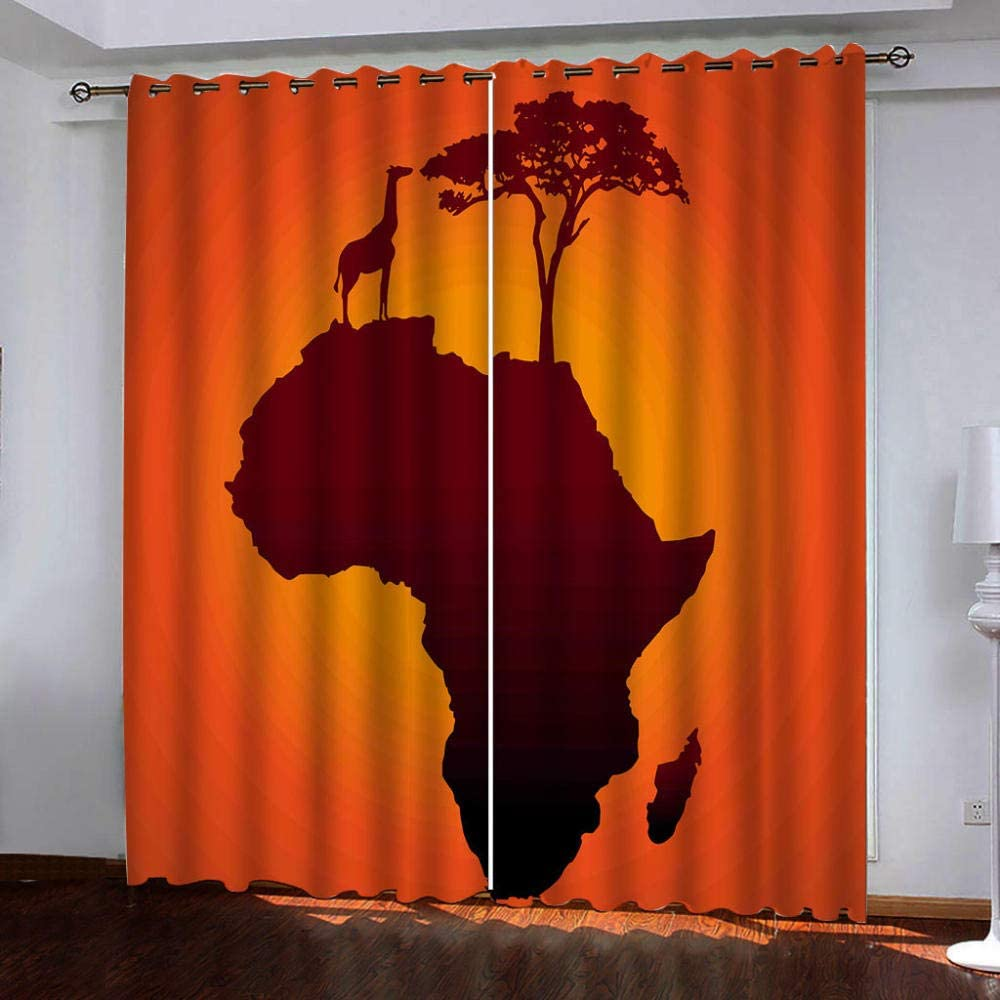 Blackout Curtains,Animal Max 80% OFF Ranking TOP18 Giraffe Shades Insulated N Thermal