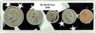 1998-5 Coin Birth Year Set in American Flag Holder Uncirculated