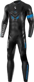 Synergy Triathlon Wetsuit 5/3mm - Men's Synergy Endorphin Full Sleeve Smoothskin Neoprene for Open Water Swimming Ironman...