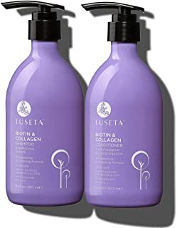 Luseta Biotin & Collagen Shampoo & Conditioner Set 2 x 16.9oz - Thickening for Hair Loss & Fast Hair Growth - Infused with...
