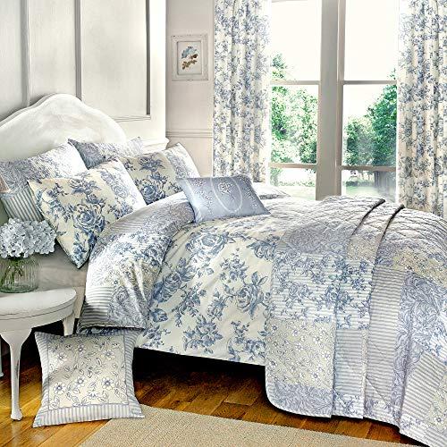 Umkehrbares Bettbezugsset von Dreams 'n' Drapes, blau, Einzelbett