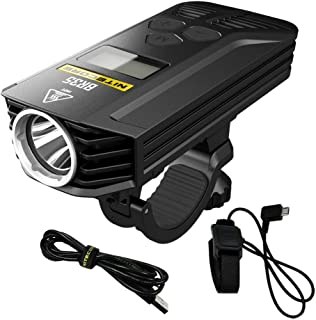 21Grams BR35 Professional Front Bike Light,Waterproof CyclingHeadlight Rechargeable6800 mAh 1800 Lumens Super Bright White LED Light with Multi Modes and Remote Control Design