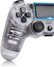 Game Controller for P-4,Wireless Controller with Dual Vibration Game Joystick (White)