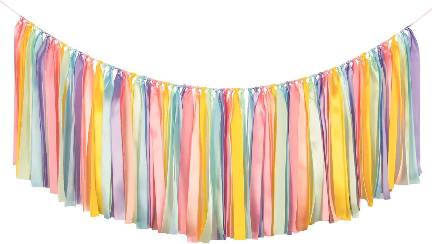 Rainbow Ribbon Tassel Outlet SALE Garland Colorful Banner Dec Fabric Hanging Luxury