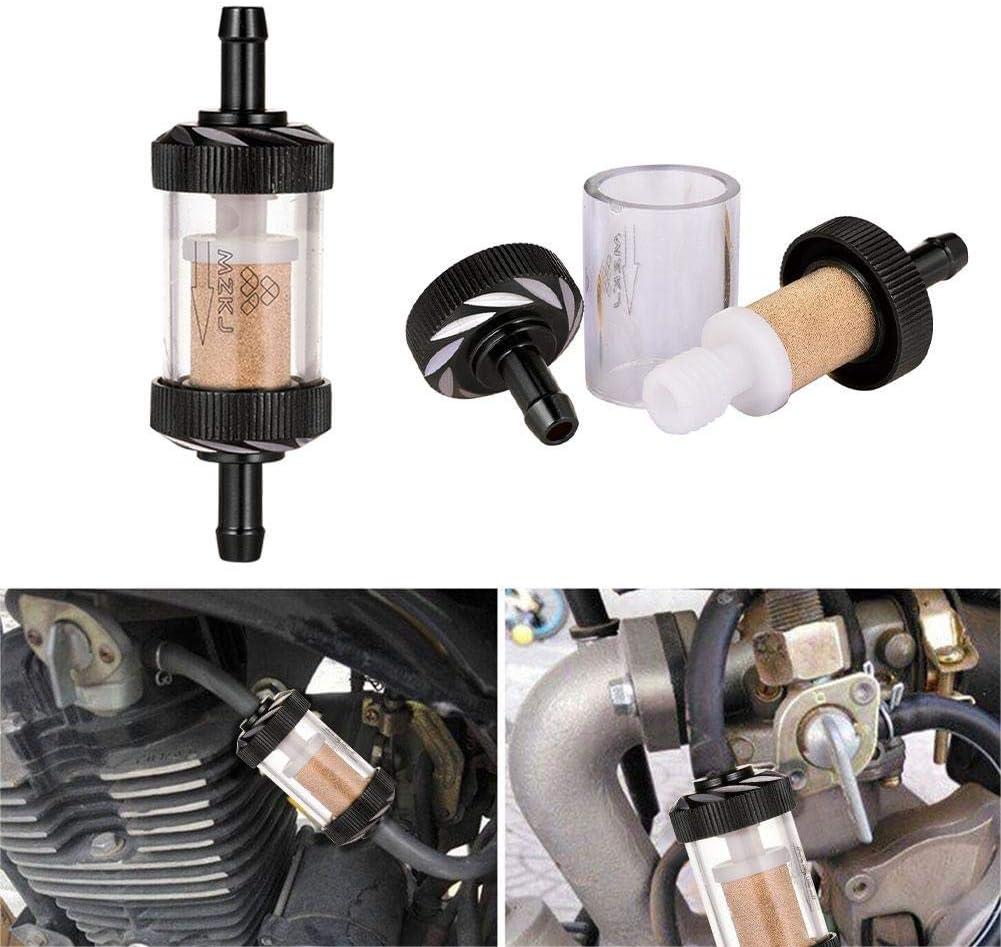 Filter Abnehmbarer Transparenter Glasbenzinfilter Benzinfilter househome Motorradmodifizierter Metall/ölfilter