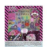 L.O.L Surprise! Townley Girl Makeover Set con más de 20 piezas, que incluyen brillo de labios, esmalte de uñas, uñas a presión, pegatinas de uñas y bolsa de lentejuelas reversible, mayores de 5 años
