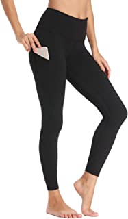 Willit Women's Thermal High Waist Yoga Pants 4 Pockets Winter Running Leggings Tummy Control
