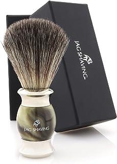 Jag Shaving Scheerkwast - Synthetische scheerkwast - Jag's Lee Range - Elegant Design Houten Grip - Perfecte scheerkwast -...