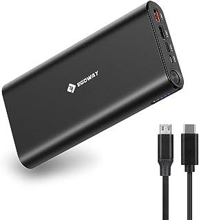 USB C bärbar laddare, E EGOWAY 27000 mAh 100 W PD powerbank externt batteri för USB C och USB A smarttelefoner, surfplatto...