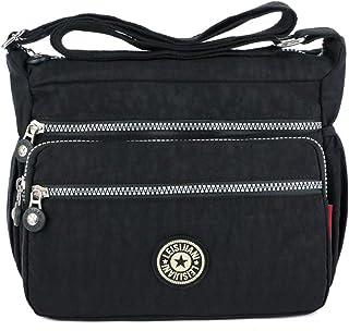 MINGZE Mujer Bolsos de Moda, Impermeable Mochilas Bolsas de Viaje Bolso Bandolera Sport Messenger Bag Bolsos Mano para Esc...