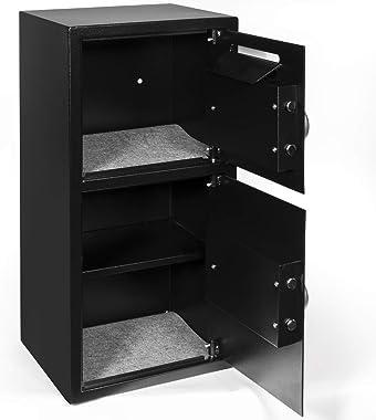 XtremepowerUS Digital Double Door Safe Depository Drop Box Security Lock Box Home Office Case Lock Jewelry Gun