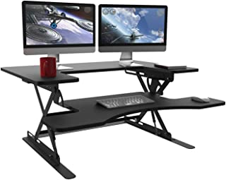 """Halter Black Height Adjustable 36"""" Stand up Desk Converter 