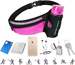 AFFLEXY Fanny Pack with Water Bottle Holder, Running Waist Bag Hiking Waist Pack Multifunctional Sports Waist Bag for Running, Hiking, Climbing, Riding and Walking, etc