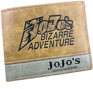 Levin_Art Anime JoJo Bizzare Adventure Logo Jonathan Joestar Wallet Purse Card Holder Purse Handbag Layers PU Wallets Costume Otaku Gift