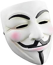 RASTPOAL Halloween Masks V for Vendetta Mask, Anonymous/Guy Fawkes for 2018 Halloween Costume White