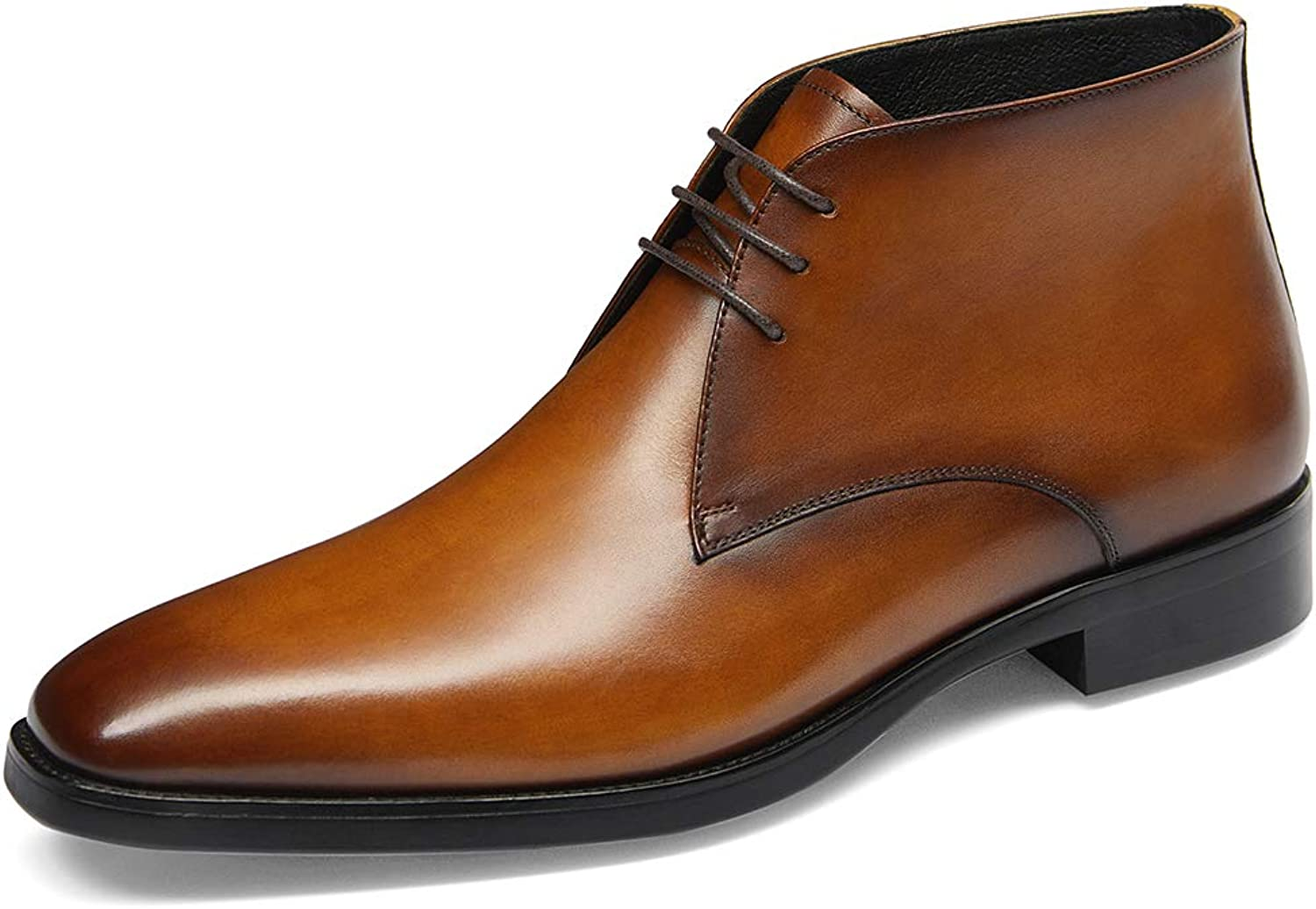 GIFENNSE Men's Chukka Boots,Brown Boots for Men,Black Boots,Men's shoes,Boot Mens Black,Leather Boots