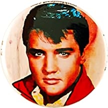 Mark Lewis Art Elvis Presley Pin - Pinback Button eo - hand signed collectible