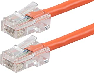 Monoprice ZerobootCat5e Ethernet Patch Cable - Network Internet Cord - RJ45, Stranded, 350Mhz, UTP, Pure Bare Copper Wire,...