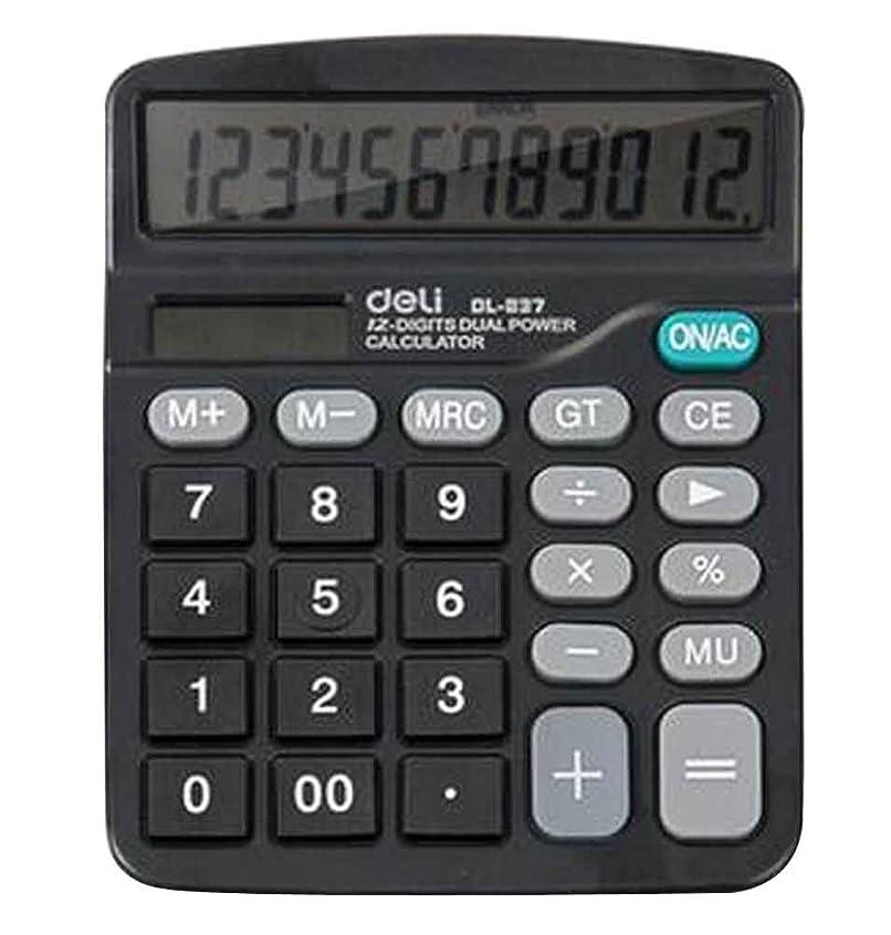 12桁デュアル電源標準機能デスクトップ電卓[B]