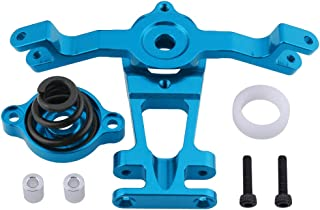 HobbyPark Aluminum Steering Arm (Upper/Lower) Servo Saver Set w/Spring Replacement of 5344 for RC Traxxas 1/10 E-Revo/Revo 3.3 /Slayer Pro 4x4 /Summit Hop-Ups (Blue)