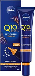 Nivea Q10 Plus C anti-rynkor, energiladdning god nattvård, 1-pack (1 x 40 ml), för trötta ögon och första fall