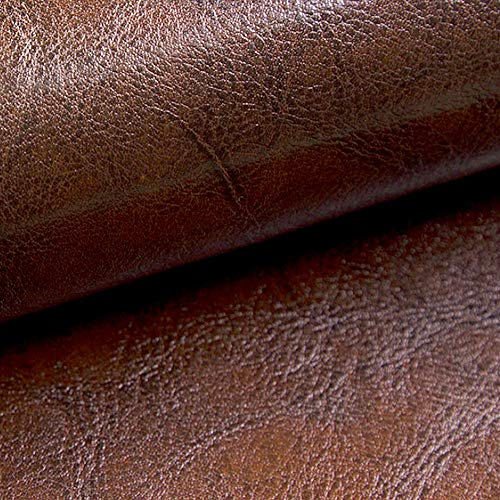 NOVELY® MARGOTH | Glattes glänzendes Kunstleder | Antik-Look | STRAPAZIERFÄHIG | Echtleder-Look (24 Braun)