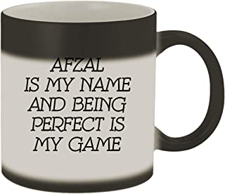 Afzal Is My Name And Being Perfect Is My Game - 11oz Ceramic Color Changing Mug, Matte Black