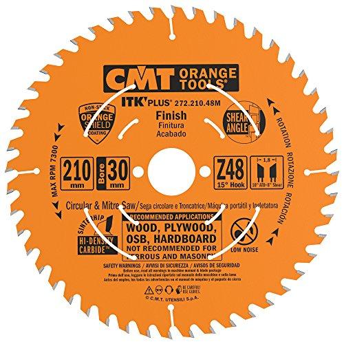 CMT 272.210.48M Lama Circolare Itk-Plus per Taglio Traverso Vena, 5 V, Arancio