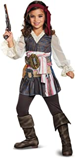 Disguise POTC5 Captain Jack Sparrow Girl Classic Costume, Multicolor, Small (4-6X)