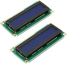 HiLetgo 2pcs HD44780 1602 LCD Display Module DC 5V 16x2 Character LCM Blue Blacklight NEW