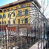 CHFQ - Pérgola de Arco de jardín de Metal Grande de 3,2 MX 2,4 m, Enrejado de Arco de Rosas de Boda de 1,2 MX 2,4 m, Utilizado para Plantas trepadoras, Negro, Blanco, Duradero, Resistente a la INT