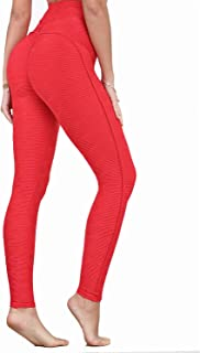 Women's High Waist Yoga Pants Tummy Control Scrunched Booty Leggings Workout Running Butt Lift Textured Tights