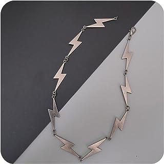 قلادة لايتنينج بانك هيب هوب سلسلة معدنية روك مجوهرات للرجال والأولاد