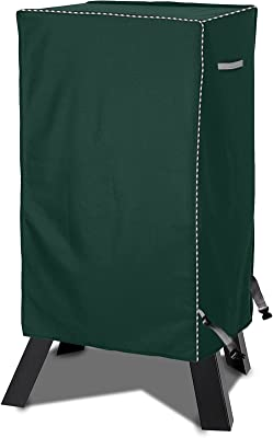 AlaSou Electric Smoker Gill Cover,Heavy Duty Rectangular Vertical Grill Cover Waterproof,Dust-Proof with Buckle(Green,W23D17H39inch)