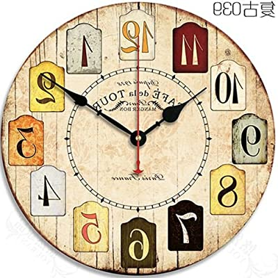 Y-Hui Bedroom Decor Home Wall Clock, 12 Inch ,039